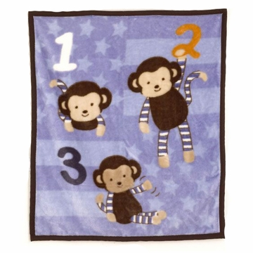 "CoCaLo Baby Monkey Mania Soft & Cozy Blanket (36"" x 40"")"