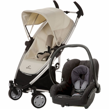 Quinny Zapp Xtra Folding Seat + Maxi Cosi Mico Travel System - Natural / Black