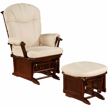Shermag Glider and Ottoman in Chestnut - 37GR106-H4-0001