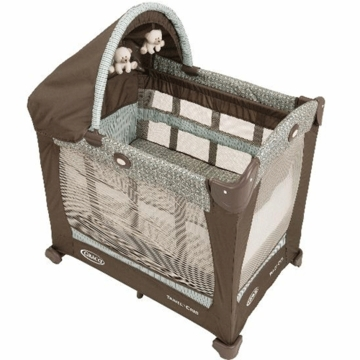 Graco Travel Lite Crib with Stages in Notting Hill with FREE Crib Sheet