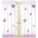 Sweet JoJo Designs Pink & Purple Butterfly Window Panels- Set of 2