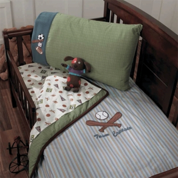 CoCaLo Lil Rookie 4 Piece Toddler Bedding Set