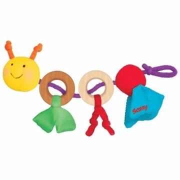 Sassy Earth Brights Wooden Happy Caterpillar Toy
