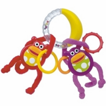 Sassy Monkeys Swing on Banana Ring