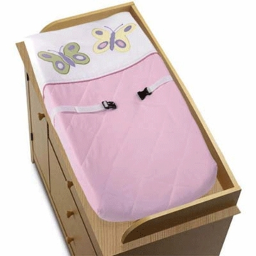 Sweet JoJo Designs Pink & Purple Butterfly Changing Pad Cover