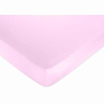 Sweet JoJo Designs Pink & Purple Butterfly Crib Sheet in Solid Pink