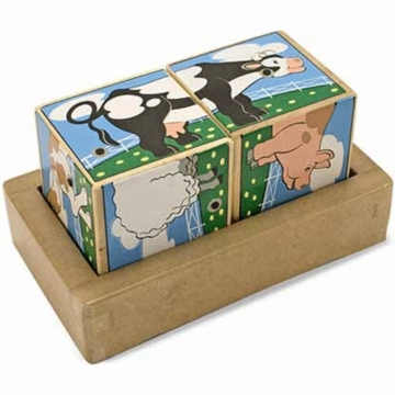 Melissa & Doug Farm Sounds Blocks