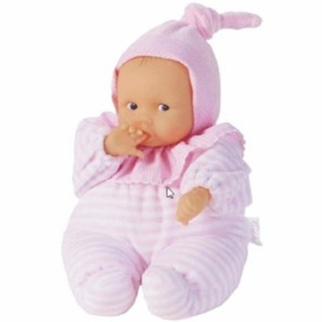 "Corolle Babicorolle Pillow Soft 11"" Babipouce Doll Pink Striped"