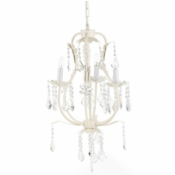 CoCaLo 3 Light Chandelier - Ivory with Clear Crystals