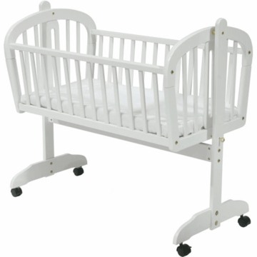DaVinci Futura Rocking Cradle with Wheels in White