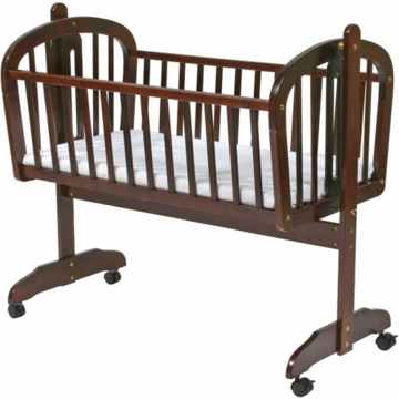 DaVinci Futura Rocking Cradle with Wheels in Cherry