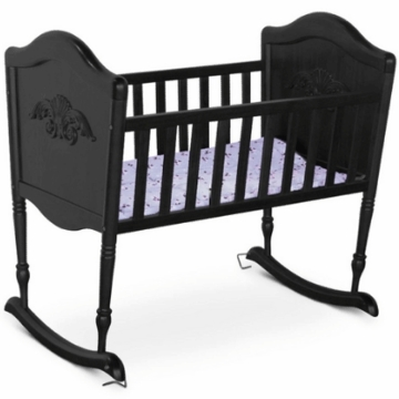 DaVinci Chloe Rocking Cradle in Ebony