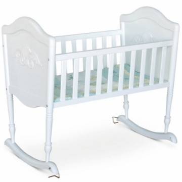 DaVinci Chloe Rocking Cradle in White
