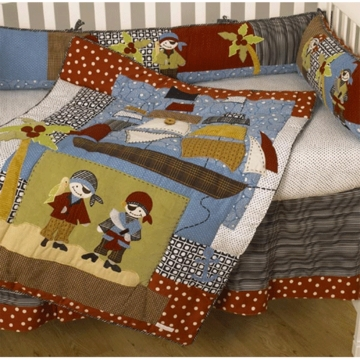Cotton Tale Designs Pirates Cove 4 Piece Crib Bedding Set