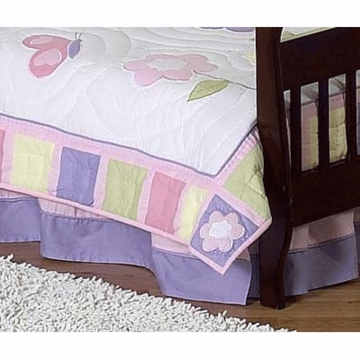 Sweet JoJo Designs Pink & Purple Butterfly Toddler Bed Skirt
