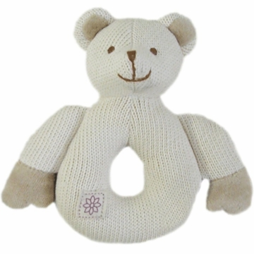 MiYim Organic Teether Knitted Bear in Beige