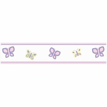 Sweet JoJo Designs Pink & Purple Butterfly Wall Border