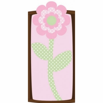 CoCaLo Plush Changing Pad Cover - Flower