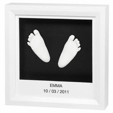 Baby Art Window Sculpture Frame - White