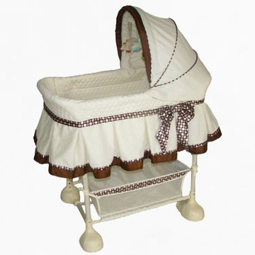 Arm's Reach Harmony Bassinet - Cocoa Dot