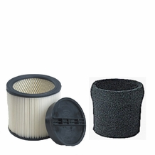 ShopVac Complete Filter Kit- Compare with Shopvac Part# 9030400 HEPA Filter, 3008000 Retaining Ring, & 9058500 Foam Prefilter