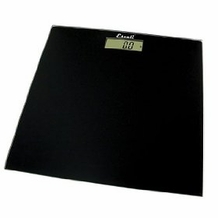 Escali B180SC Glass Platform Bathroom Scale, Black 400lb