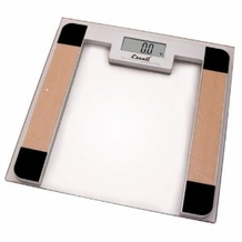 Escali B180SC Glass Platform Bathroom Scale, 400lb
