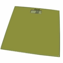 Escali B180SC Glass Platform Bathroom Scale, Sage Green 400lb