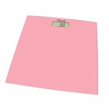Escali B180SC Glass Platform Bathroom Scale, Soft Pink 400lb