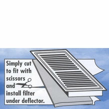 Vent Pro Disposable Vent Filter for Forced Air Heating and Air Conditioning (3 pack)