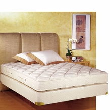 Royal Latex King-Size Quilt-Top Mattress w/ Box Spring