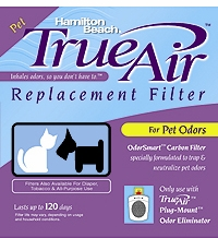 Hamilton Beach 04294 TrueAir Replacement Air Cleaner Pet Odor Filter