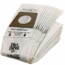 Dirt Devil 3920047001 Type U Vacuum Cleaner Bag (3 pack)