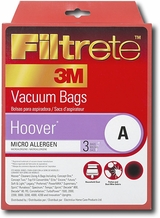 3M 64705A Hoover S MicroAllergen Bags, 3 Per Pack