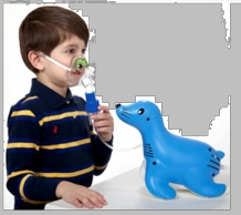 Respironics 1082731 Sami the Seal Compressor Nebulizer w/ Disposable & Reusable Neb & Tucker Mask