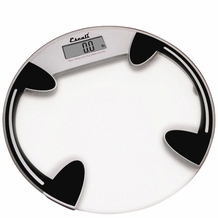 Escali B180RC Glass Platform Bathroom Scale, 400lb