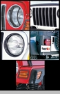 Euro Guard Light Kit Jeep TJ and LJ (1997-2006), Black