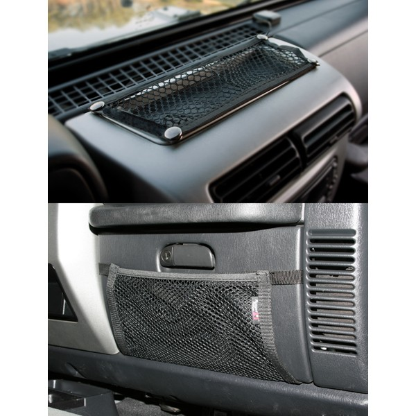 All Things Jeep Glove Box And Trail Dash Net Kit For