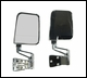 Door Mirror Kit Dual Focus for Jeep YJ & TJ (1987-2002), Chrome