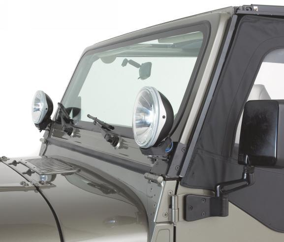 All Things Jeep Windshield Light Brackets 97 06 Jeep