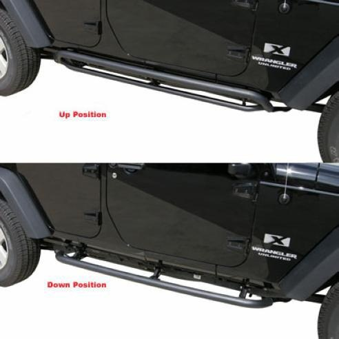 All Things Jeep Srs Side Bar Retractable Rockslider Step