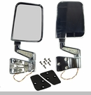 Door Mirror Kit Led Turn Signals, Jeep YJ (1987-1995), TJ (1997-2002), Chrome