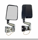 Chrome Door Mirror Kit Led Light Dual Focus-Jeep YJ,TJ 1987-2002