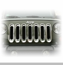 Grille Insert Set for Jeep JK (2007-2015), Chrome