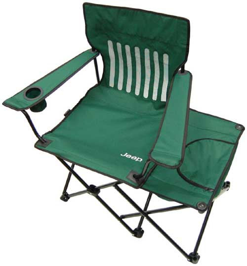 All Things Jeep Jeep Folding Camping Chair with Cooler for the Outdoors