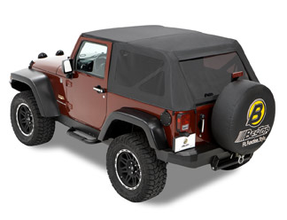 All Things Jeep Bestop Trektop Frameless Soft Top For