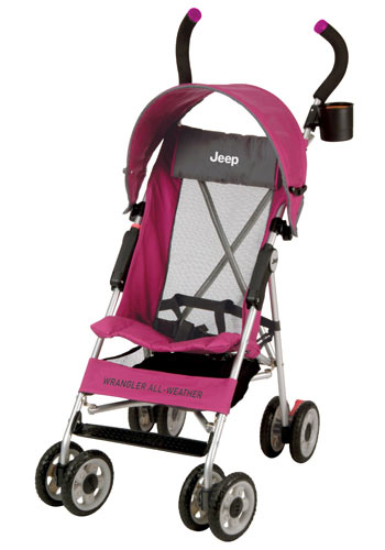 All Things Jeep - Jeep® All-Weather Umbrella Stroller - Hype Pink ...