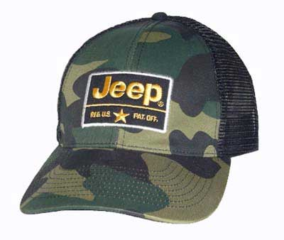 All Things Jeep Jeep Camo Mesh Back Hat