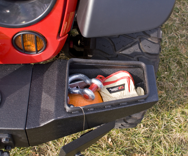 All Things Jeep Xhd Front Bumper Storage Ends For Jeep