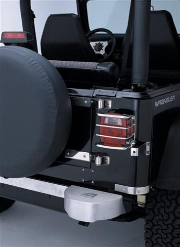 all things jeep euro tail light guards for jeep cj wrangler yj tj. Black Bedroom Furniture Sets. Home Design Ideas